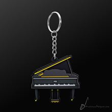 Picture of Key Chain Grand Piano Black