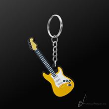 Picture of Key Chain Electric Guitar Yellow