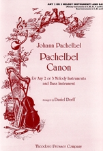 Picture of Pachelbel Canon in D 3 Melody Instruments and Bass