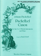 Picture of Pachelbel Canon in D 3 Melody Instruments and Piano
