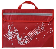 Picture of Musicwear Wavy Stave Music Bag Red