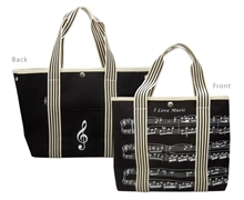 Picture of Canvas Tote Bag with Sheet Music Design