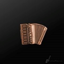 Picture of Music Pin Accordion Copper