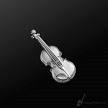 Picture of Music Pin Violin Silver