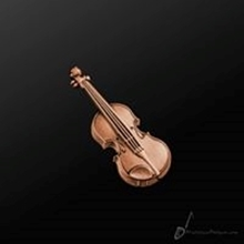 Picture of Music Pin Violin Copper