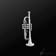 Picture of Music Pin Trumpet Silver
