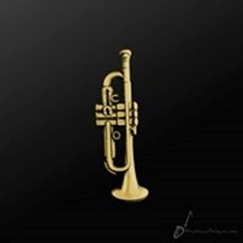 Picture of Music Pin Trumpet Gold