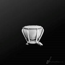 Picture of Music Pin Timpani Silver