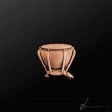 Picture of Music Pin Timpani Copper