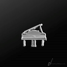 Picture of Music Pin Grand Piano Silver
