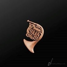 Picture of Music Pin French Horn Copper