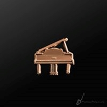 Picture of Music Pin Grand Piano Copper