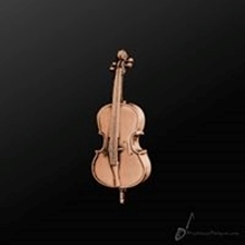 Picture of Music Pin Cello Copper