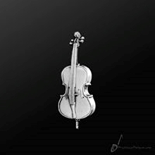 Picture of Music Pin Cello Silver