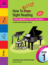 Picture of How to Blitz Sight Reading Book 1 - Preliminary to Grade 3