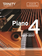 Picture of Trinity Piano Exam Pieces & Exercises 2015-17 Grade 4 Bk/Cd