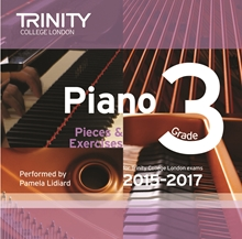 Picture of Trinity Piano Exam Pieces & Exercises 2015-17 Grade 3 CD