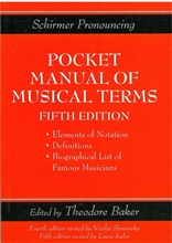 Picture of Pocket Manual of Music Terms Fifth Edition