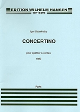 Picture of Stravinsky: Concertino (1920) for String Quartet (Parts)