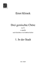 Picture of 3 Mixed Choruses Op 61 No 1 In Der Stadt SATB