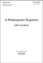 Picture of A Shakespeare Sequence SSAA/Piano/Percussion