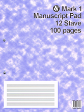 Picture of Mark 1 Manuscript Pad 12 Stave 100 Pages