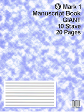 Picture of Mark 1 Manuscript Book GIANT 10 Stave 20 Pages