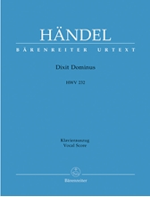Picture of Dixit Dominus HWV 232 Vocal Score