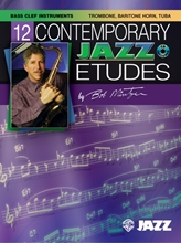 Picture of 12 Contemporary Jazz Etudes Bass Clef Instruments Book/Cd