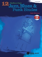 Picture of 12 Medium Easy Jazz Blues & Funk Etudes C Inst Bk/Cd