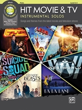 Picture of Hit Movie and TV Instrumental Solos Flute Book/Cd