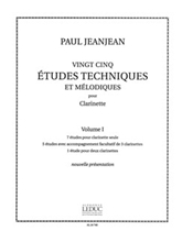 Picture of 25 Technical and Melodic Etudes Volume 1 Clarinet