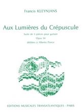 Picture of Kleynjans: Aux Lumieres de Crepuscule for Guitar