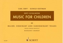 Picture of Music For Children Volume 3 - Major Dominant and Subdominant Triads