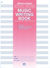 Picture of 12 Stave Music Writing Book 96 pages Spiral Bound