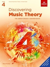 Picture of ABRSM Discovering Music Theory Grade 4 Answers