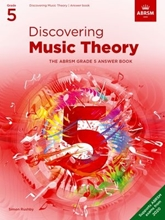 Picture of ABRSM Discovering Music Theory Grade 5 Answers