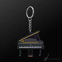 Picture of Key Chain Grand Piano Black