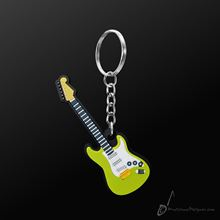 Picture of Key Chain Electric Guitar Green