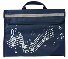 Picture of Musicwear Wavy Stave Music Bag Navy Blue