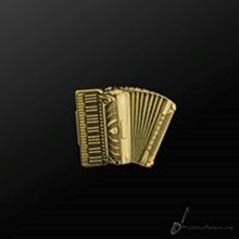 Picture of Music Pin Accordion Gold