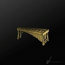 Picture of Music Pin Marimba Gold
