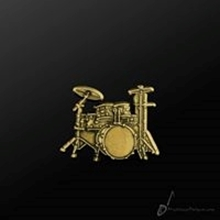 Picture of Music Pin Drum Set Gold