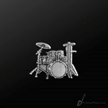 Picture of Music Pin Drum Set Silver