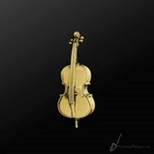 Picture of Music Pin Cello Gold