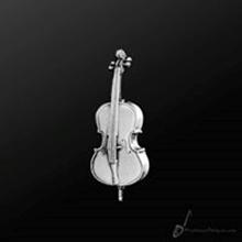 Picture of Music Pin Cello Silver