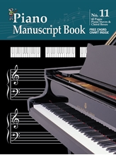 Picture of Manuscript Book 11 - Piano Staves & Chord Boxes 48 Pages