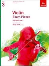 Picture of ABRSM Violin Grade 3 2016-19 Sc/Pt