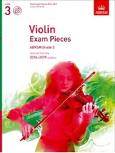 Picture of ABRSM Violin Grade 3 2016-19 Sc/Pt/CD
