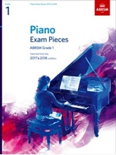 Picture of ABRSM Piano Exam Pieces Gr 1 2017-2018 Book